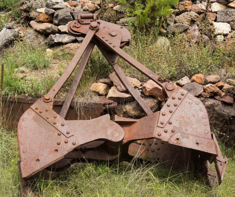 Download Old Mining Equipment At The Mogollon Ghost Town Stock Image - Image: 83714841