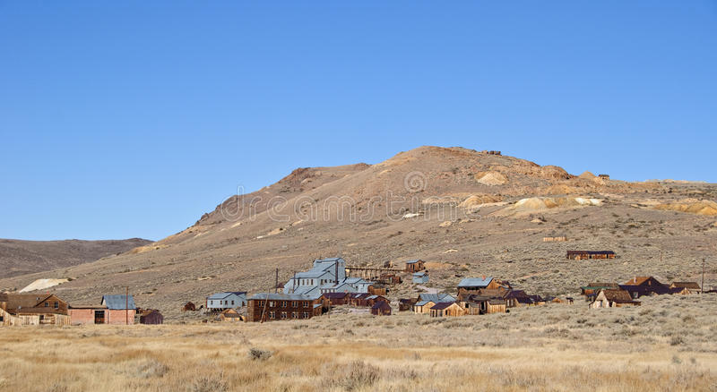 Old mining ghost town in west america. Photo old mining ghost town in west america stock image