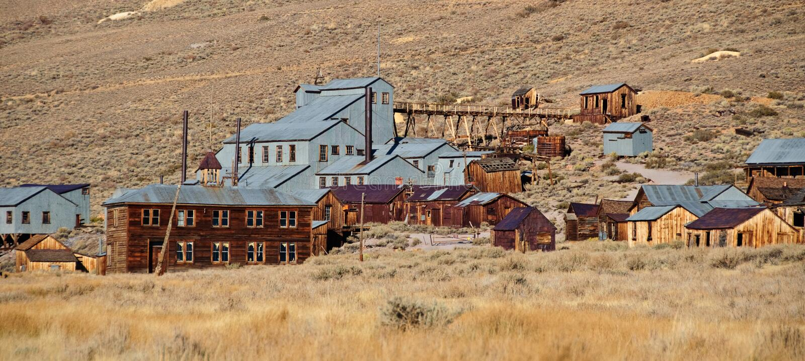 Old mining ghost town in west america. Photo old mining ghost town in west america royalty free stock photo