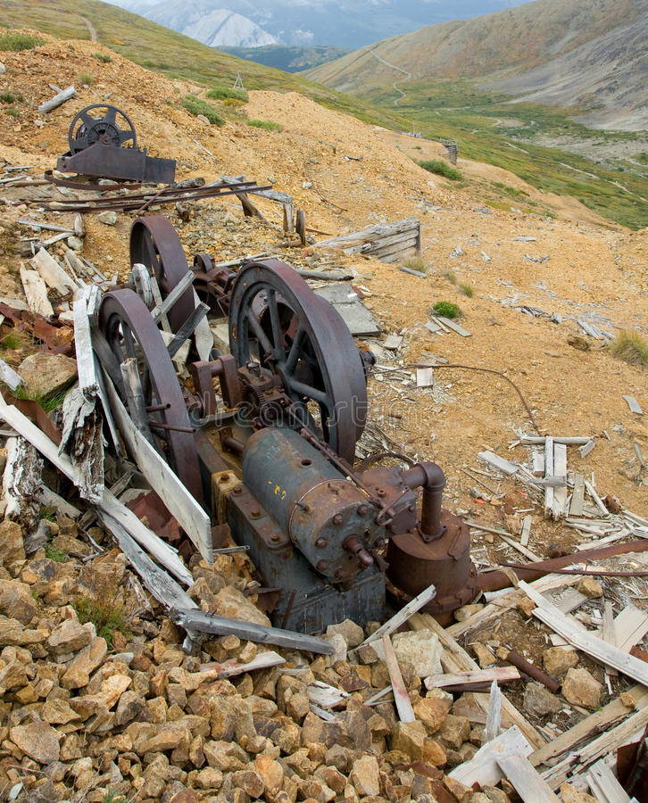 Old mining machinery stock photography