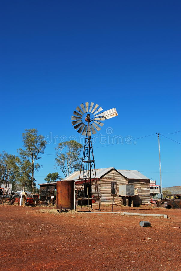 Old mining town Gwalia wind mill royalty free stock image