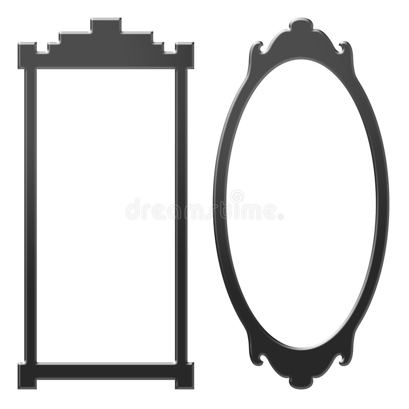 Download Old mirrors stock illustration. Illustration of black - 7953046