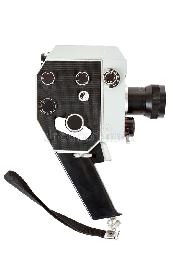 Download Old 8mm Movie Camera On White Stock Image - Image: 29864349