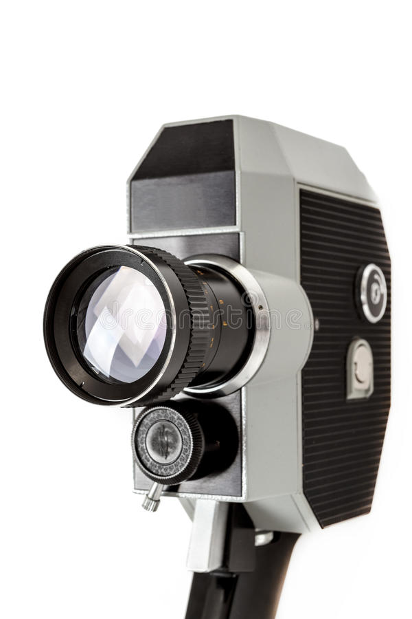 Download Old 8mm Movie Camera On White Stock Photo - Image: 39544668