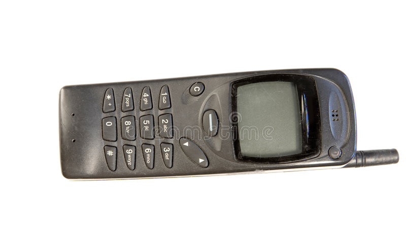 Old mobile phone royalty free stock photos