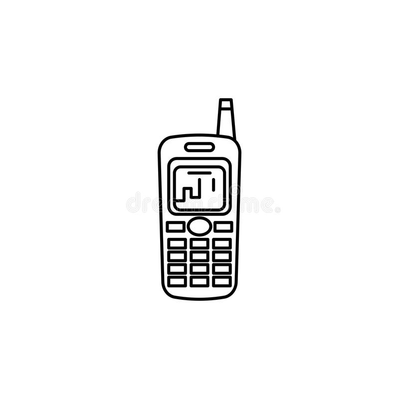Old mobile phone icon. On white background vector illustration