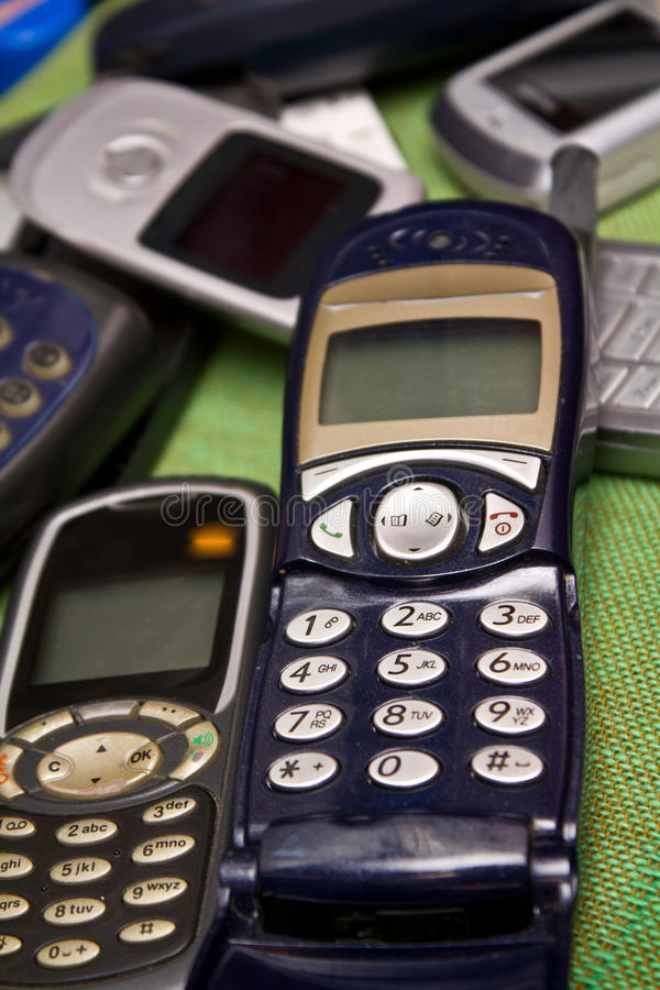 Download Old mobile phones stock image. Image of junk, connect - 22483311