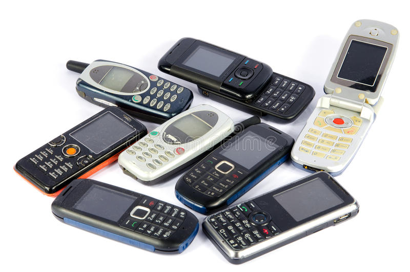 Download Old Mobile phones stock image. Image of telephone, pile - 28587503