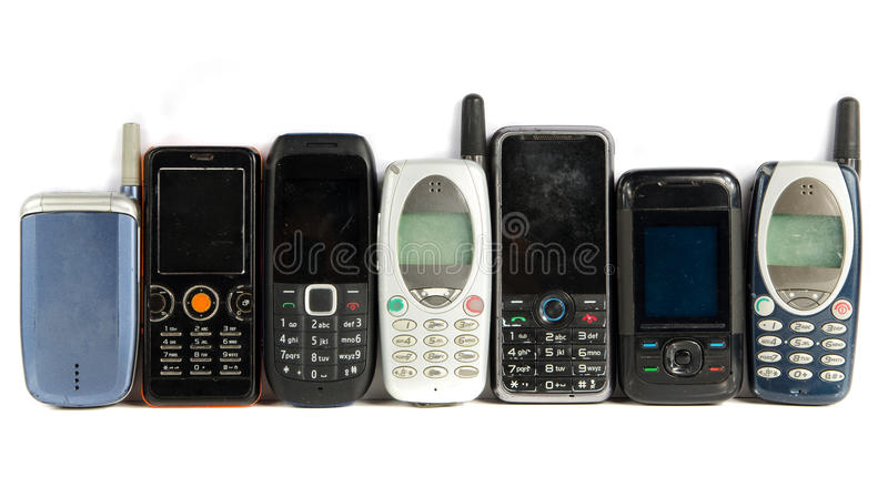 Download Old Mobile phones stock image. Image of outdated, tower - 28587549