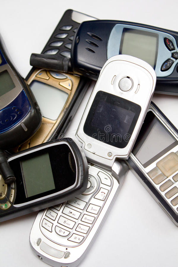 Download Old mobile phones II stock photo. Image of cell, close - 20393930