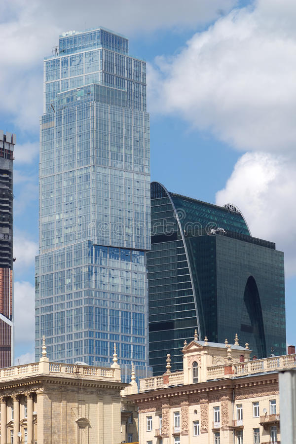 Download Old and Modern buildings stock image. Image of tower - 25472239