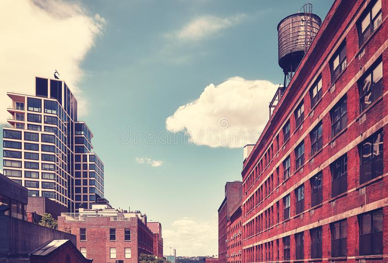 Old and modern New York City architecture, USA. royalty free stock photo