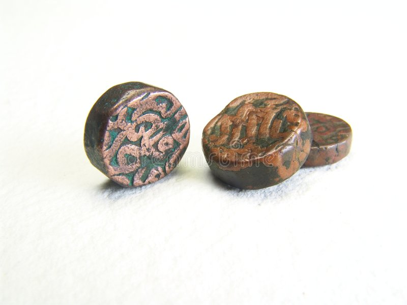 Old Mogul Coins royalty free stock photos