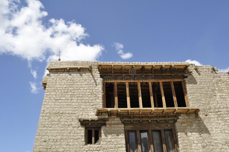 Old monastery. Brick monasteruy against clear sky royalty free stock photo