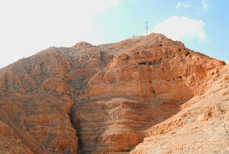 Old monastery in Jericho stock image