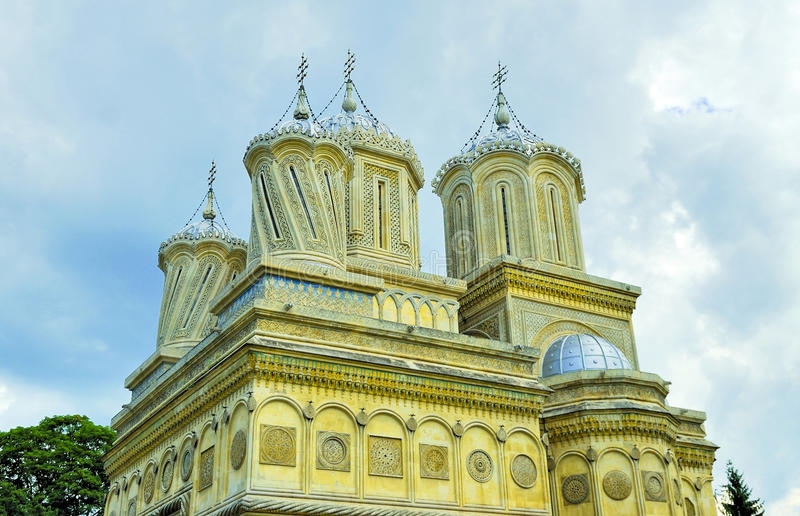 Old monastery in Romania stock images
