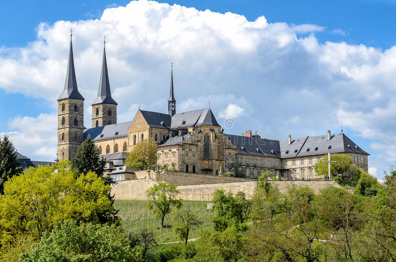 Old Monastery. St. Michael in Bamberg royalty free stock photography