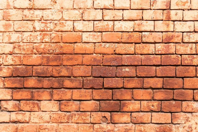 The old monastery wall built of red brick, brickwork texture, can be used for interior design royalty free stock images