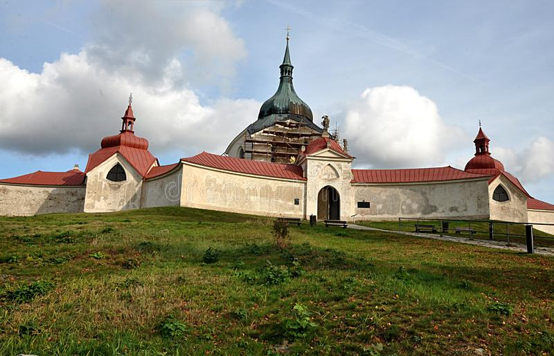 Monastery Zelena  Hora, city Zdar nad Sazavou, Czech republic, Europe. Old monastery Zelena  Hora, city Zdar nad Sazavou, Czech republic, Europe stock photography