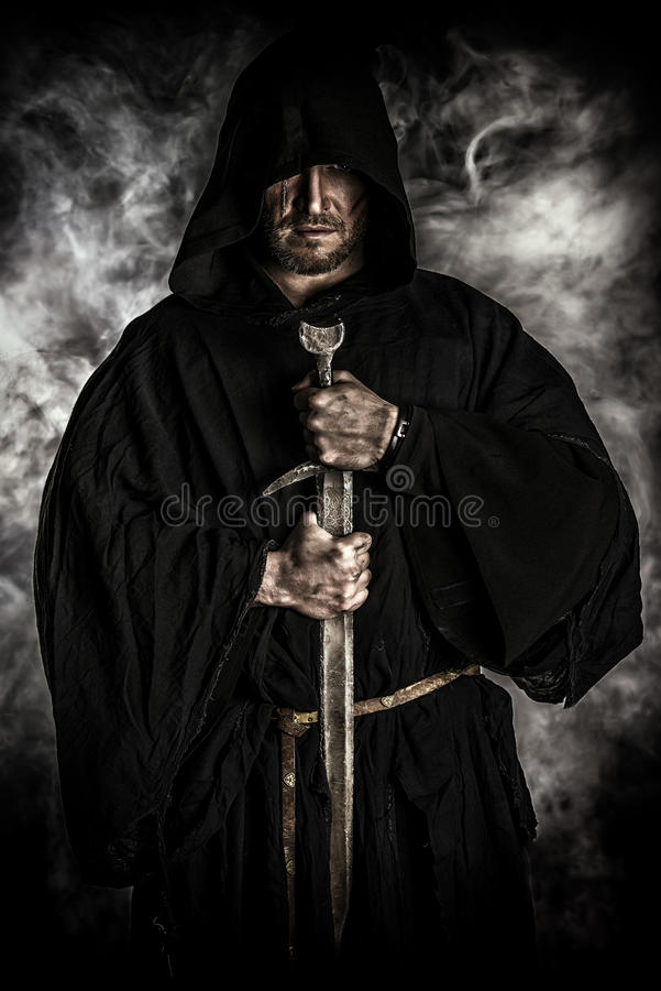 Old monk royalty free stock photo