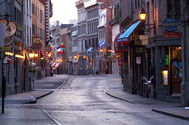 Old Montreal stock photos