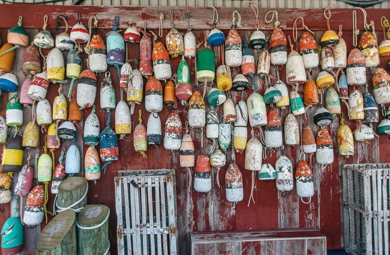 Old mooring buoys royalty free stock photography