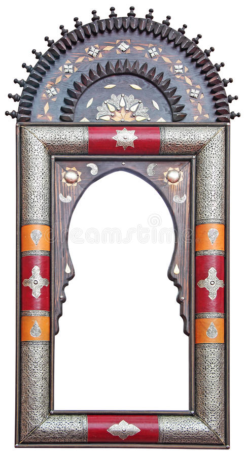Old Moroccan frame stock photo
