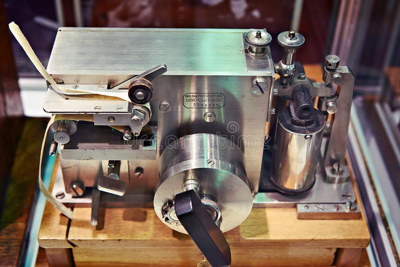 Antique Morse Code Equipment Stock Photo - Image of code