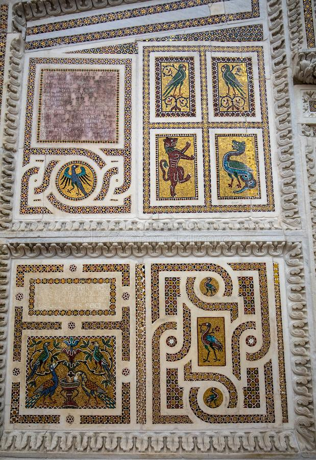 Old mosaic inside of the Cathedral of Santa Maria Assunta in Ravello , Campania,. Italy stock image