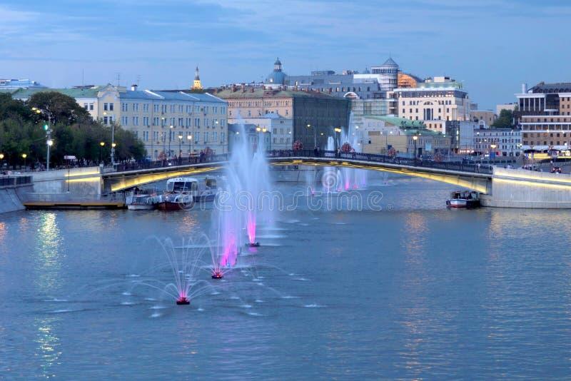 Marsh Embankment, Luzhkov Bridge stock photography