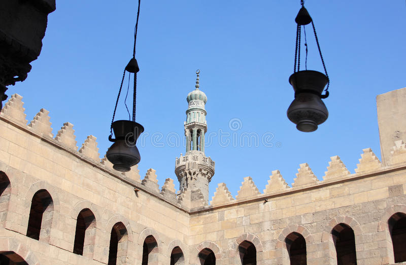 Old mosque in cairo in egypt stock photos
