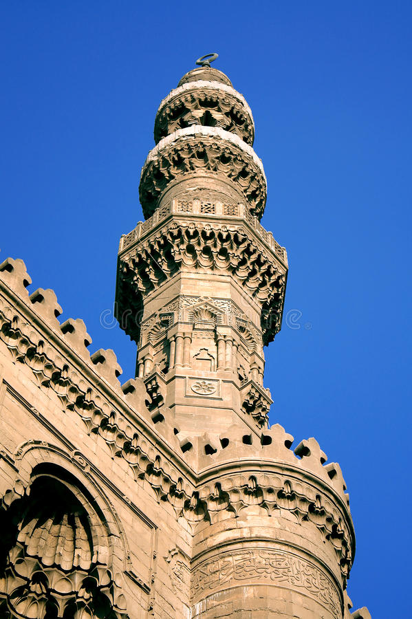 Old mosque in cairo in egypt royalty free stock images