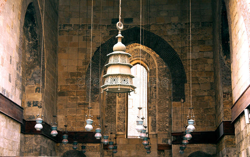 Old mosque in cairo in egypt. Old mosque in cairo located in old cairo royalty free stock photography