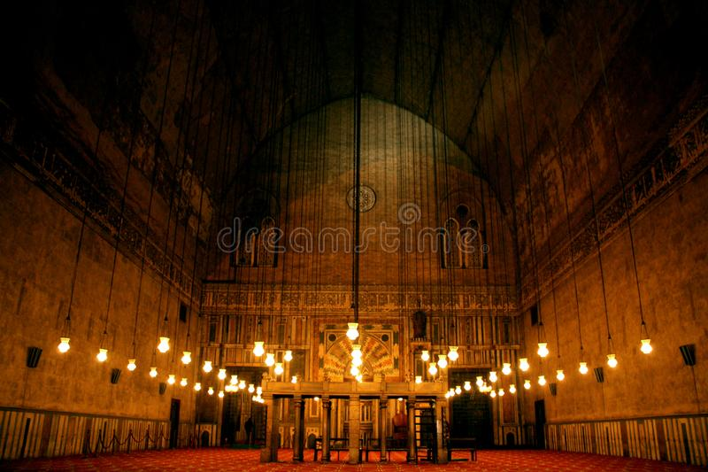 Old mosque egypt cairo. Historical Sultan Hassan Mosque at night in cairo in egypt