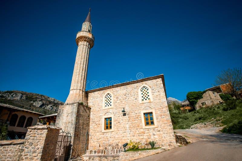 Old Mosque in Stari Bar. City, Montenegro stock image