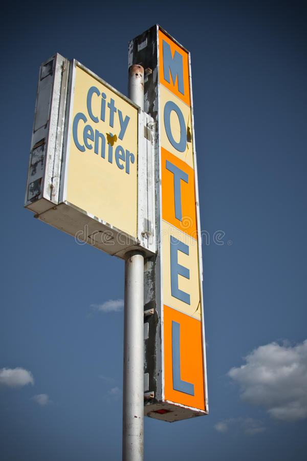 Old Motel Sign stock images