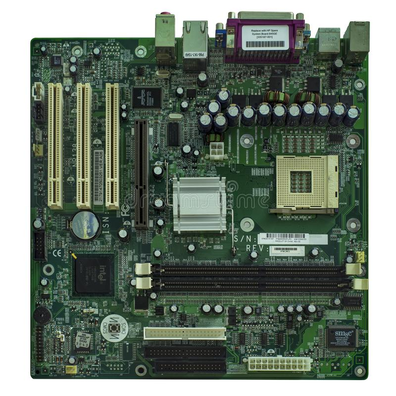 Old motherboard stock photos