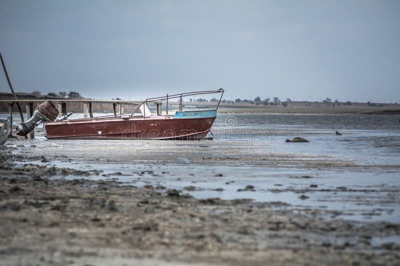 Old motor fishing boat royalty free stock photography