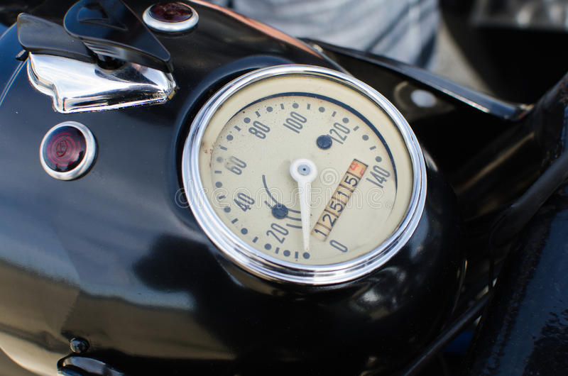 Old Motorcycle Speedometer Royalty Free Stock Photo