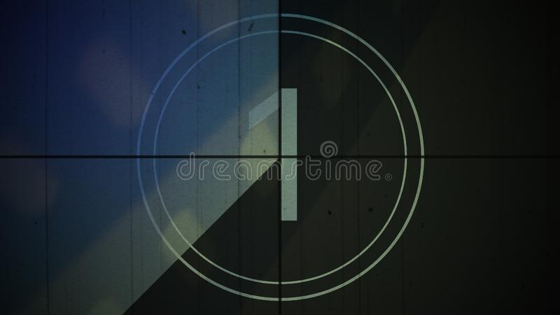 Film vintage countdown number 1 one background royalty free stock photo