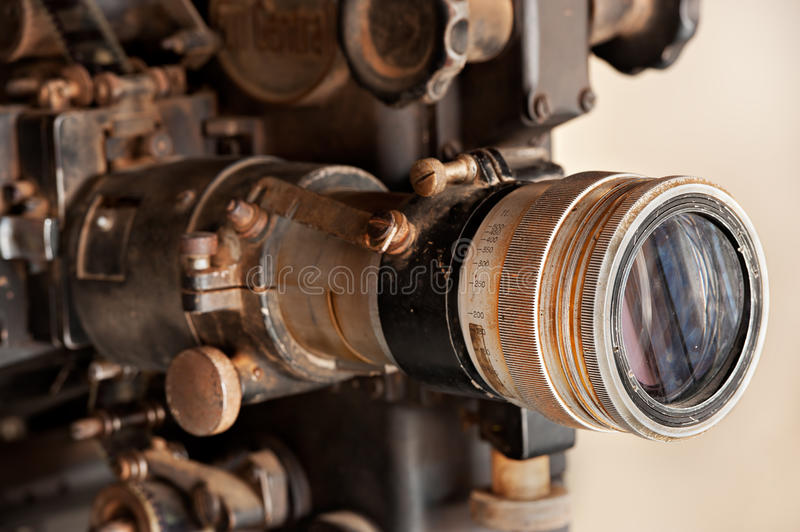 Old movie projector royalty free stock image