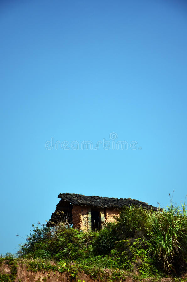 Download Old mud house in china stock photo. Image of rural, house - 27734182