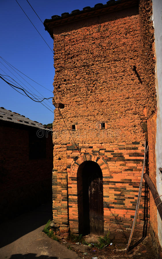 Download Old mud house in china stock photo. Image of sunny, green - 27942724