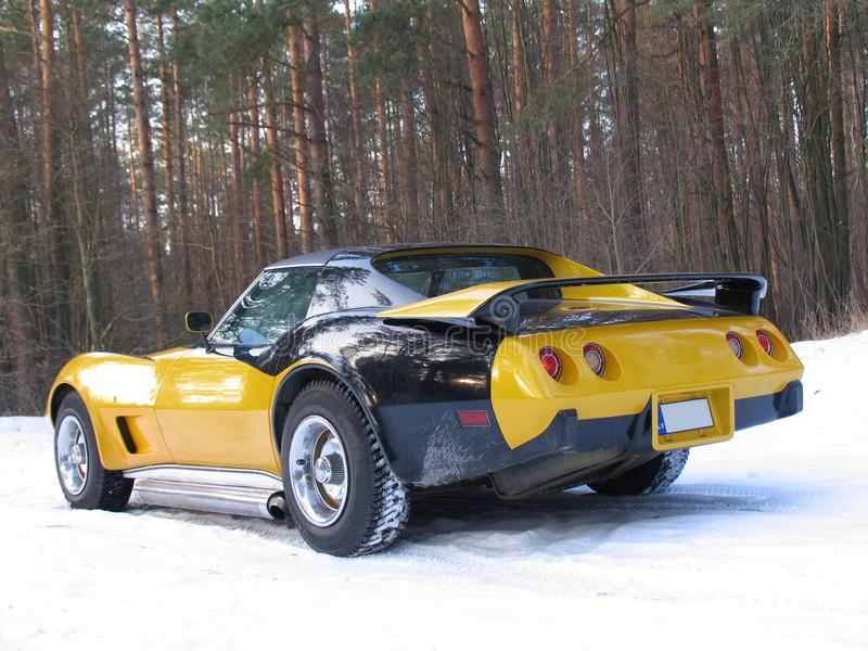 Old Muscle Car Corvette Stingray 1977 Stock Image - Image of driver ...