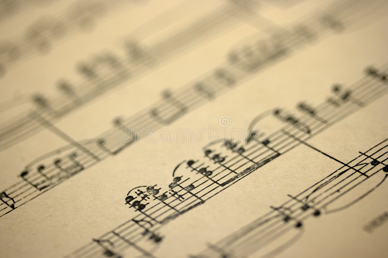 Old music sheet stock photography