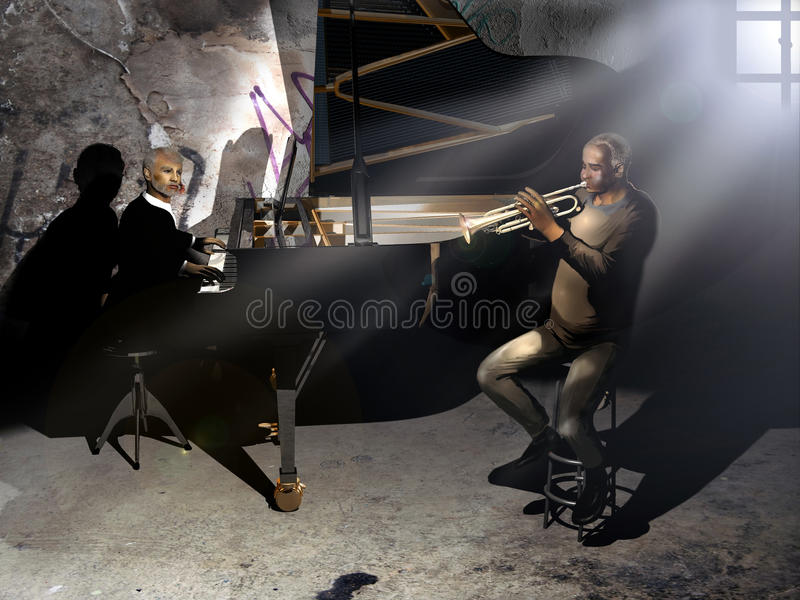 Download Old musicians stock illustration. Image of musician, darkness - 18612325