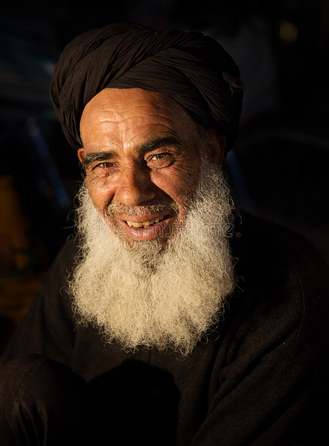 Old muslim man stock images