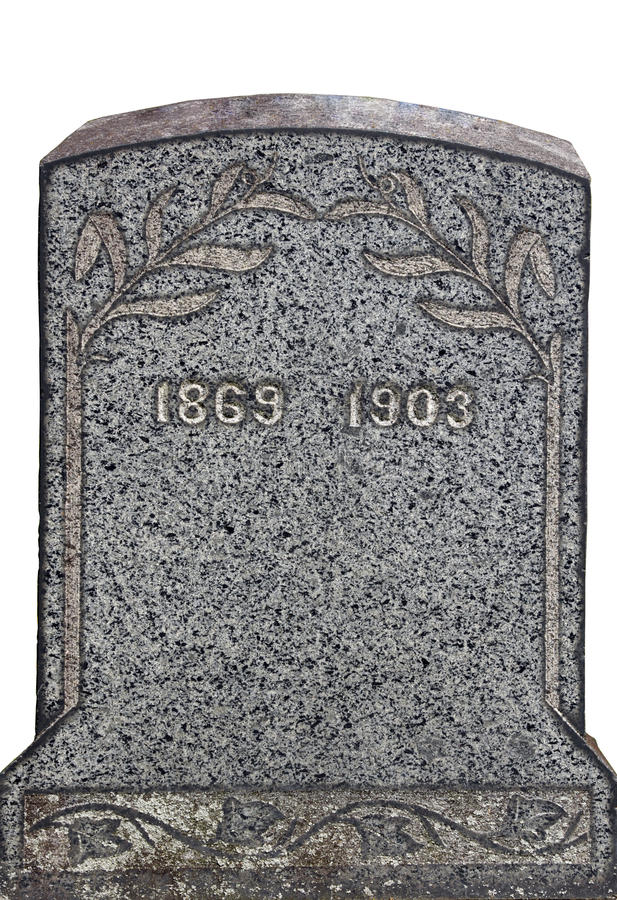 Old nameless tombstone royalty free stock images
