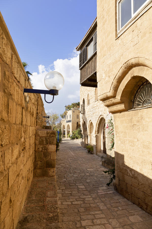 The old narrow streets of Jaffa. Tel Aviv royalty free stock photos