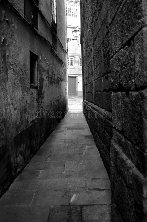 Old narroy alley stock photography